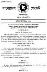 Bangladesh Water Act, 2013