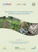 Training Manual on Improved Tilapia Culture and Dyke Cropping in Pond/Gher